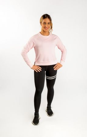 King Lifestyle Ladies Pale Pink Lightweight Crew Neck