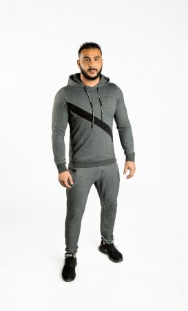 King Lifestyle FItted Grey Lightweight Hoodie
