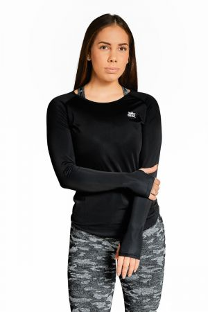 King Lifestyle Ladies Black Ultra Light Long Sleeve