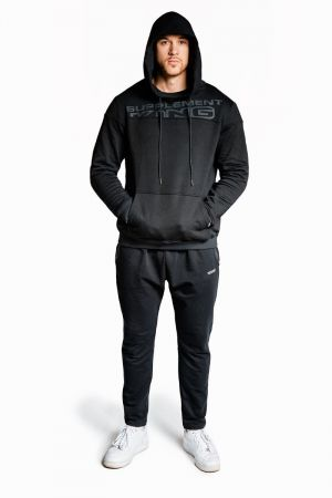 King Lifestyle Mens Black Out Joggers