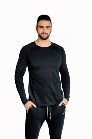 King Lifestyle Mens Ultra Light Long Sleeve Black On Black