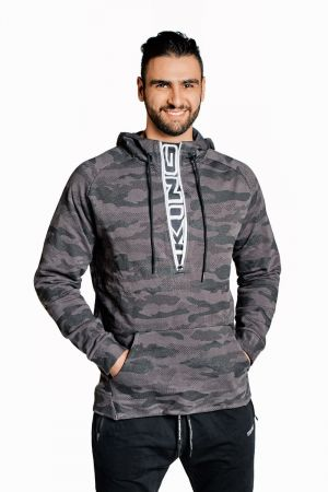 King Lifestyle Mens Quarter Zip King Hoodie