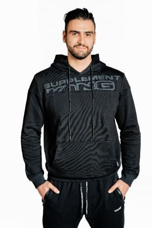 King Lifestyle Men's Black Out Hoodie