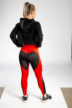 King Lifestyle Ladies Red/Black Legging