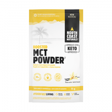 North Coast Naturals Boosted MCT Powder 11g French Vanilla