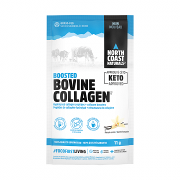 North Coast Naturals Boosted Bovine Collagen 11g French Vanilla