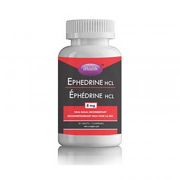 iHealth Ephedrine HCL (Oral Nasal Decongestant) 8mg 50 Tablets