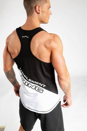 King Lifestyle Men's White/Black Stringer