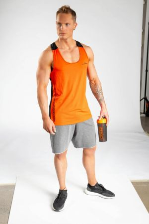 King Lifestyle Men's Orange/Black Stringer