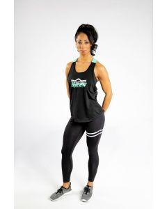 King Lifestyle Ladies Two Tone Supplement Queen Tank Top