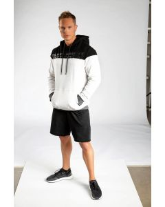 King Lifestyle Men's White/Black Hoody
